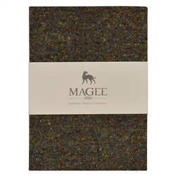 Green Donegal Tweed Notebook A6