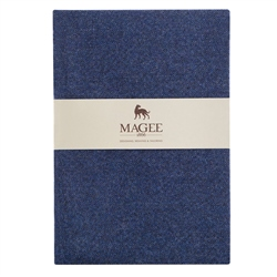 Blue Donegal Tweed Notebook A4