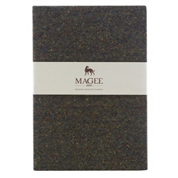 Green Donegal Tweed Notebook A4