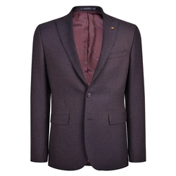 Navy & Rust Hopsack Weave Classic Fit Jacket
