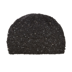 Magee 1866 Dark charcoal Donegal fleck Handknit Aoife Cable Hat
