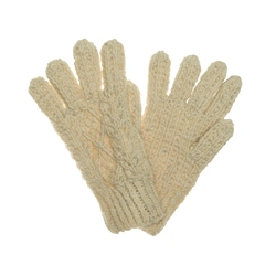Magee 1866 Cream heather Handknit Aran Gloves