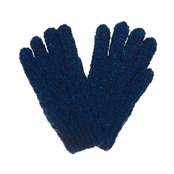Magee 1866 Dark Blue Donegal fleck Handknit Aran Gloves