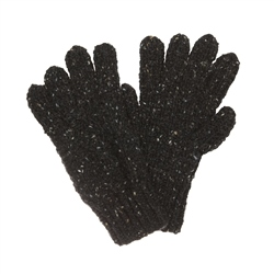 Magee 1866 Dark charcoal Donegal fleck Handknit Aran Gloves