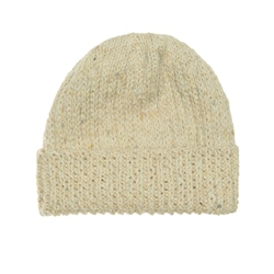 Magee 1866 Cream heather Handknit Beanie Hat