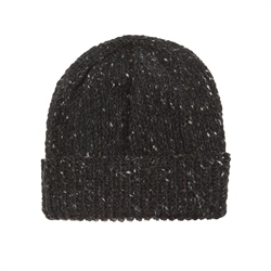 Magee 1866 Dark charcoal Donegal fleck Handknit Beanie Hat