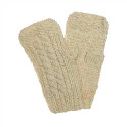 Magee 1866 Cream heather Handknit Niamh Warmer