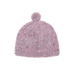 Magee 1866 Baby Pink Heather Handknit Baby Hat