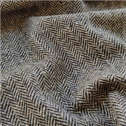 Magee 1866 Eske - Black & Oat Herringbone, Flecked Donegal Tweed