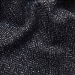 Magee 1866 Bluestack - Black Herringbone Flecked Donegal Tweed