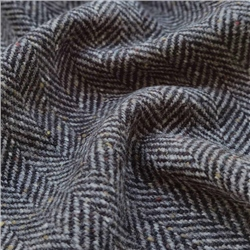 Magee 1866 Bluestack - Grey & Black Herringbone Flecked Donegal Tweed