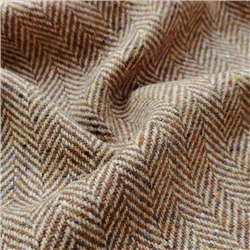 Bluestack - Camel & Brown Herringbone, Flecked Donegal Tweed