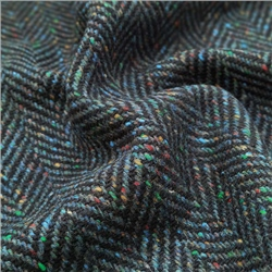 Magee 1866 Errigal - Navy Herringbone, Flecked Donegal Tweed