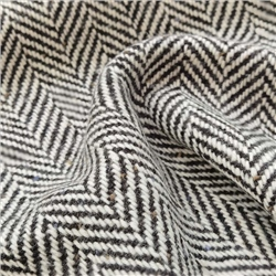 Magee 1866 Black & White Herringbone Flecked Donegal Tweed