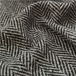 Magee 1866 Errigal - Black & Grey Herringbone Donegal Tweed