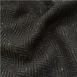 Magee 1866 Errigal - Navy & Green Herringbone, Flecked Donegal Tweed