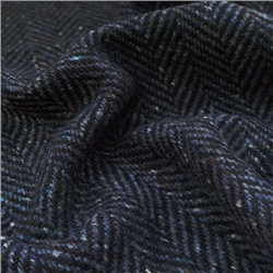 Magee 1866 Errigal - Navy & Blue Herringbone, Flecked Donegal Tweed