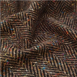 Errigal - Multicolored Herringbone Flecked Donegal Tweed