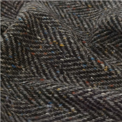 Magee 1866 Errigal - Black & Grey Herringbone Flecked Donegal Tweed