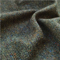 Magee 1866 Eske - Green Herringbone, Flecked Donegal Tweed