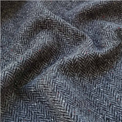 Magee 1866 Eske - Black & White Herringbone, Flecked Donegal Tweed