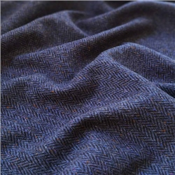 Magee 1866 Eske - Blue & Black Herringbone, Flecked Donegal Tweed
