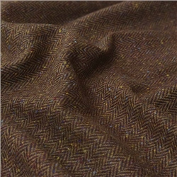 Magee 1866 Eske - Brown Herringbone, Flecked Donegal Tweed