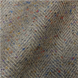 Magee 1866 Limited Edition - Multicoloured Linen Blend Herringbone Tweed