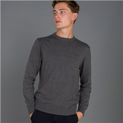 Magee 1866 Grey Carn Cotton Crew Jumper