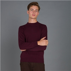 Magee 1866 Maroon Carn Cotton Crew Jumper