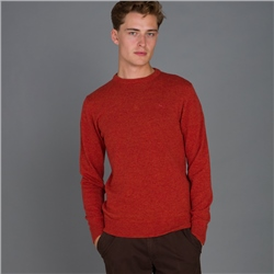 Orange Lunnaigh Lambswool Crew Neck Jumper