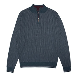 Magee 1866 Cashelenny Cotton 1/4 zip Jumper in Teal