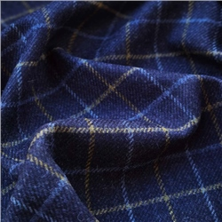 Magee 1866 Rockall - Blue & Yellow Grid Check Donegal Tweed