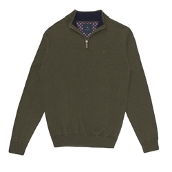 Magee 1866 Green Lunnaigh Lambswool 1/4 Zip Jumper