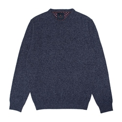 Mullans Lambswool Crew Neck Sweater in Blue