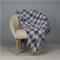 Magee 1866 Blue & Grey St Brigid's Cross Throw