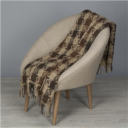 Magee 1866 Brown & Beige St Brigid's Cross Throw