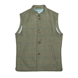 Magee 1866 Green Cavan Donegal Tweed Check Gilet