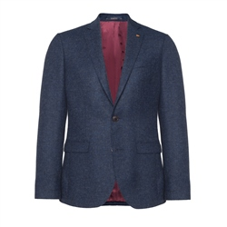 Finn Donegal Tweed Jacket in Navy
