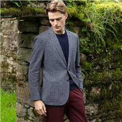 Magee 1866 Blue Check Easky Tailored Fit Jacket