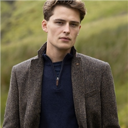 Brown Herringbone Easky Donegal Tweed Jacket