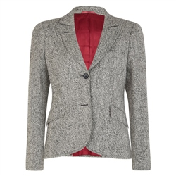 Lily Donegal Tweed Jacket in Grey Salt & Pepper