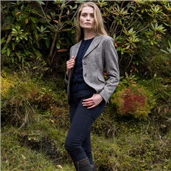 Navy Lily Salt & Pepper Donegal Tweed Jacket