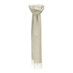 Magee 1866 White & Pale Green Herringbone Scarf