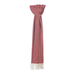 Magee 1866 Cream & Bright Red Broken Twill Scarf