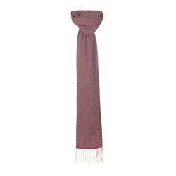 Magee 1866 Cream/Red Broken Twill Scarf