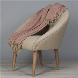 Magee 1866 Camel & Light Pink Wigwam Throw