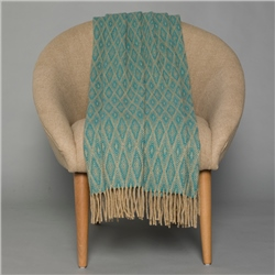Magee 1866 Camel & Bright Teal Wigwam Throw