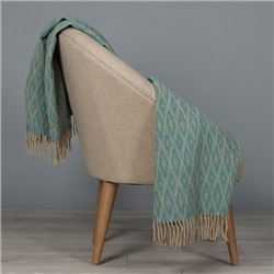 Magee 1866 Camel & Dark Turquoise Wigwam Throw