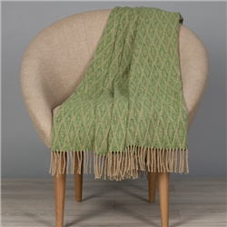 Magee 1866 Camel & Bright Green Wigwam Throw
